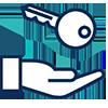Hand & Key Icon
