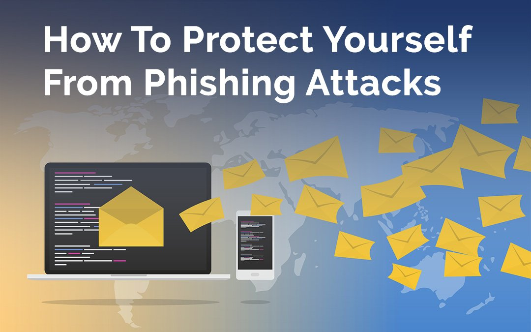 Graphic of laptop with emails | Protect Yourself From Phishing Attacks